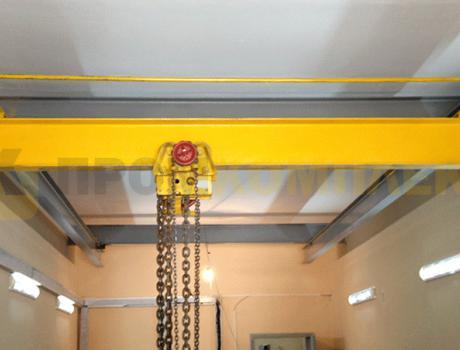 Кран-балка ручная подвесная г/п 1 тонна