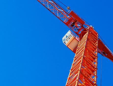 Кран башенный Giraffe SMK-10.300 с оголовком и поворотной башней
