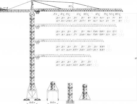 Кран башенный Giraffe TDK-40.1250