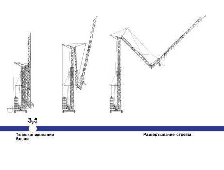 Кран башенный Giraffe SMK-5.66 быстромонтируемый