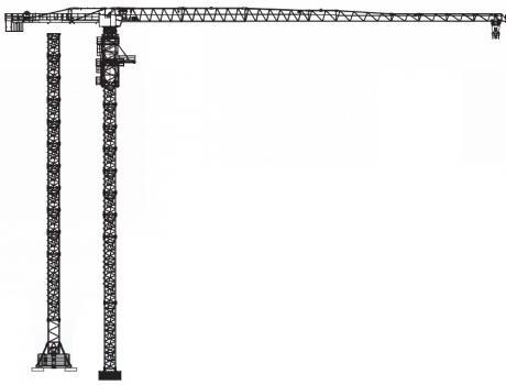 Кран башенный Giraffe TDK-12.300 безоголовочный