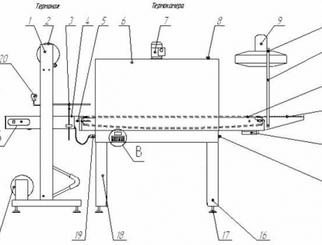 Термоупаковочная машина ТМ-1Р (ручная) - схема