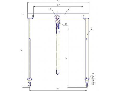 Устройство перегрузочное мобильное (УПМ) г/п 2000 кг