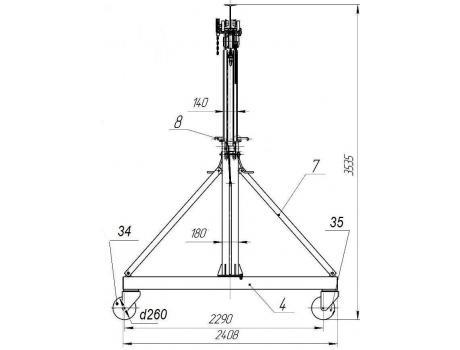 УПМ-3,2 с регулируемой высотой подъема г/п характеристики
