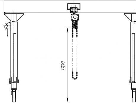 УПМ-3,2 с регулируемой высотой подъема габариты
