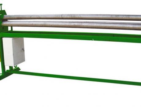 Вальцы электромеханические трёхвалковые с ручным прижимом верхнего валка
