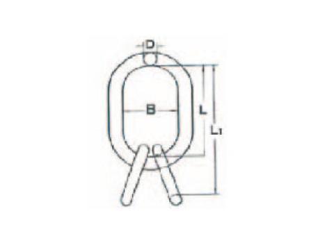 Подъемные звенья для 3- и 4-ветвевых строп цепных из кислотостойкой нержавеющей стали - габаритная схема