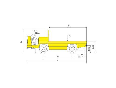 Буксировочный тягач с электроприводом моделей BD20, BD25, BD30