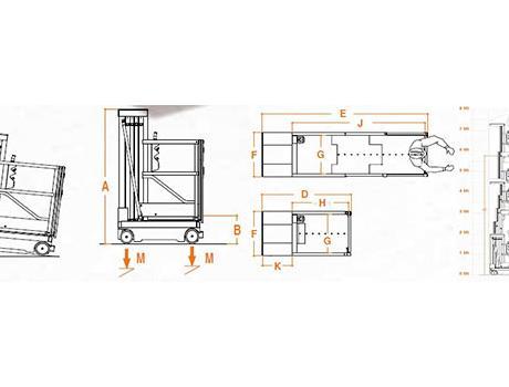 Телескопический подъемник ELEVAH 80E-MOVE