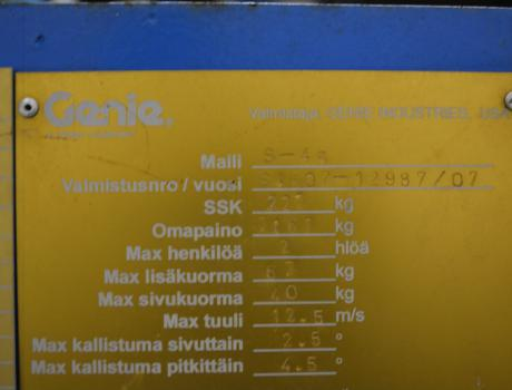 Самоходный дизельный коленчатый подъемник GENIE S-45, 2007 г/в