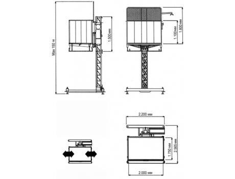 Подъемник зубчато-реечный MAX1700