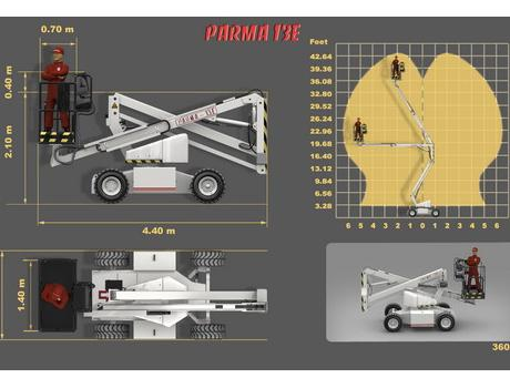 Коленчатый подъемник Parma 13E