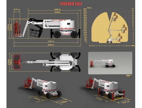 Коленчатый подъемник Parma 18D