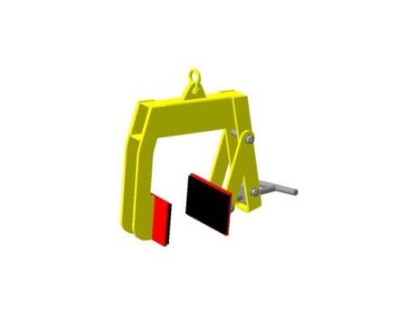 Захват струбцина для подъема изделий в вертикальном положении