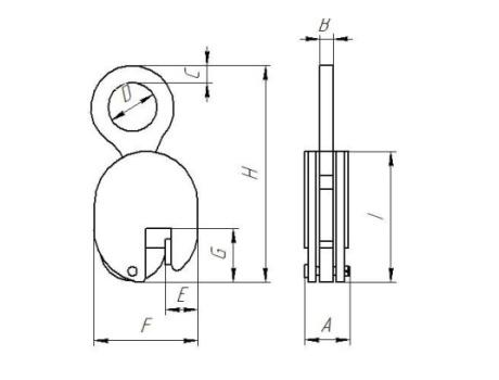 Захват для вертикального подъема листового металла JCD, г/п 3т