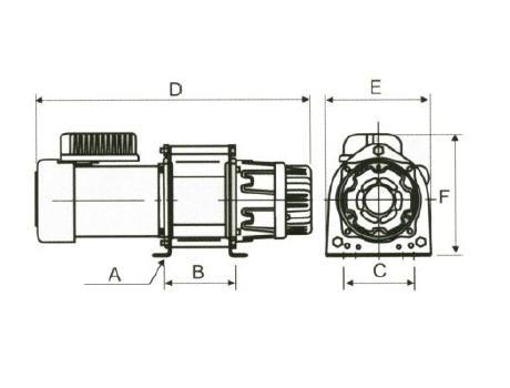 Лебедка электрическая KDJ-300Е